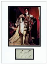 King George IV Autograph Signed Display